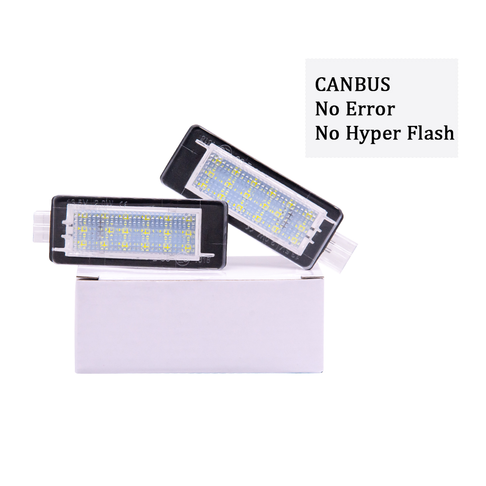 2pcs Canbus No Error <font><b>LED</b></font> Number License Plate light For <font><b>Renault</b></font> Espace MK4 <font><b>Scenic</b></font> MK2 Laguna <font><b>2</b></font> Dacia Duster Lodgy Logan MCV III image