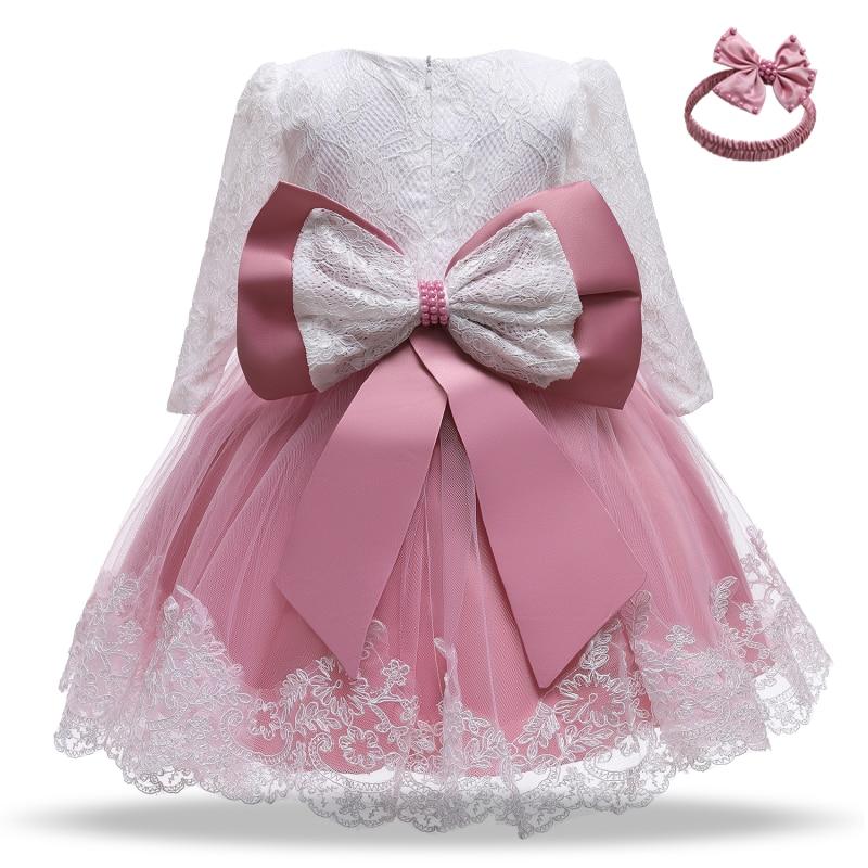 Зимнее рождественское красное платье с длинными рукавами для маленьких девочек; От 1 до 2 лет для новорожденных; Комплект одежды для дня рожд...