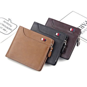 NO.ONEPAUL Leather Slim Wallets Mini Wallets Magic Card Holder Men Wallets Money Bag Male Vintage Black Short Purse Small short men wallets 100