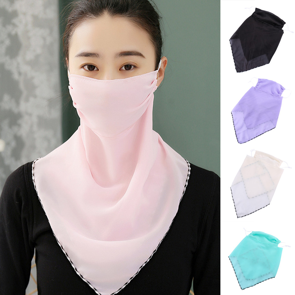 In Stock Women Sun Print Scarf Dustproof Breathable Neck Scarf Earhook FaceCovers Mascarillas Mascara Mondkapje Camping Maska