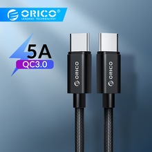 Orico USB Type C to QC3.0 5A Cable for Huawei Mate 20 Redmi K20 Note7 Quick Charge 3.0 Fast Charger MacBook Pro