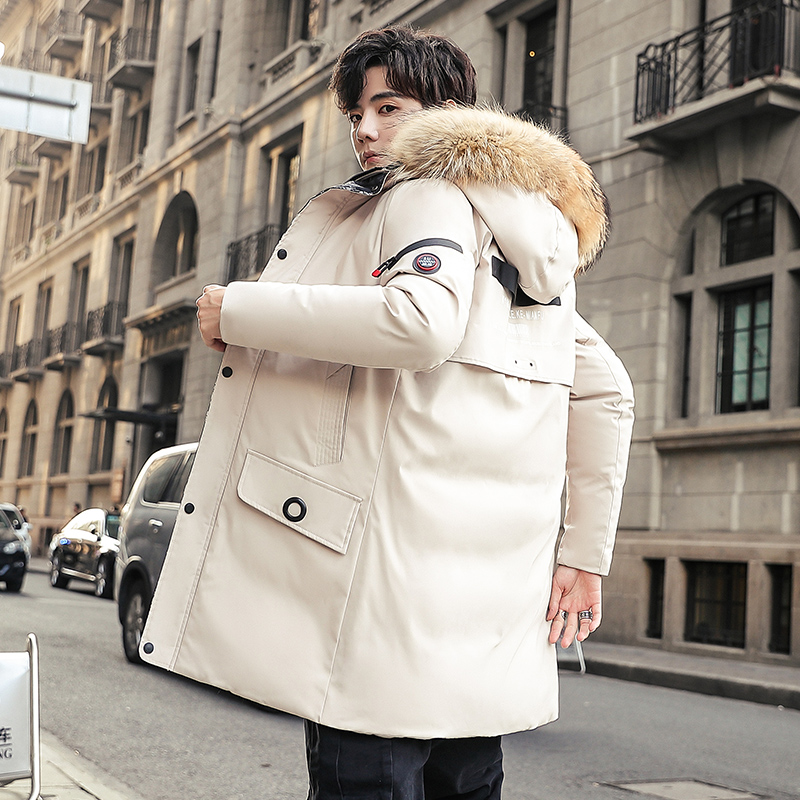 Long Parkas Winter Jacket Men 2019 New Warm Windproof Casual Outerwear Padded Cotton Coat Big Pockets High Quality Parkas Men