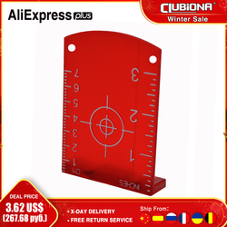 No burr high quality Magnetic laser target board or plate for red laser lines or green laser lines