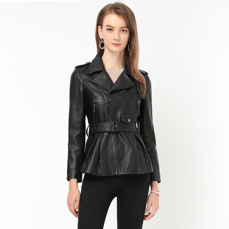 Jacket Leather Genuine Autumn Jacket Women 100% Real Sheepskin Coat Female Korean Bomber Jackets Chaqueta Mujer MY3970 S