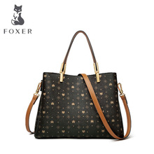 цены FOXER women bags designer bags famous brand women bags 2020 new luxury handbags women bags tote bag fashion women leather bags