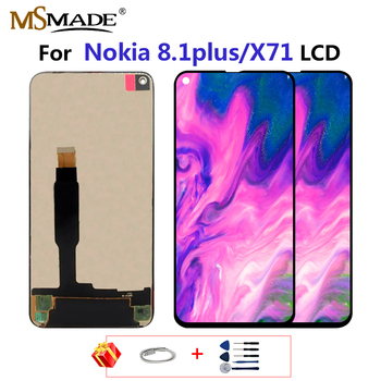 Original For Nokia 8.1 Plus LCD Display Touch Panel Screen Digitizer Assembly Parts For Nokia X71 TA-1188 TA-1167 LCD