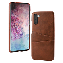 For Samsung Galaxy Note 10 Note 10 Plus Case Retro Calf Grain PU Leather Slim Hard PC Cover For Samsung S10 5G Case Card Holder protective lychee pattern pu leather case w card slots holder for samsung galaxy note 3 black