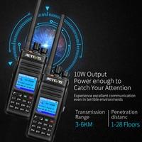 מכשיר הקשר 1pcs Retevis RT83 צריכת חשמל גבוהה מכשיר הקשר DMR רדיו דיגיטלי (GPS) IP67 Waterproof UHF 400-470MHz דיגיטלי / אנלוגי שני רדיו דרך (4)