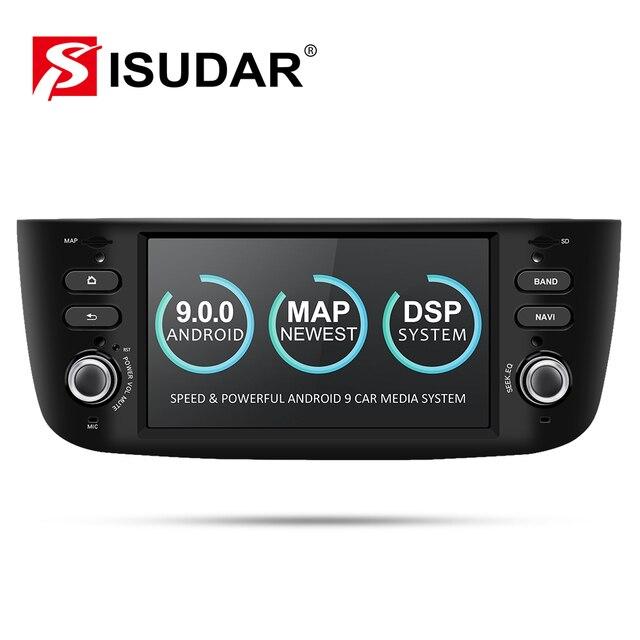 Isudar samochodowy odtwarzacz multimedialny 1 Din Android 9 dla Fiat/Linea/Punto 2012 2015 GPS DVD Automotivo Radio FM czterordzeniowy DSP USB DVR