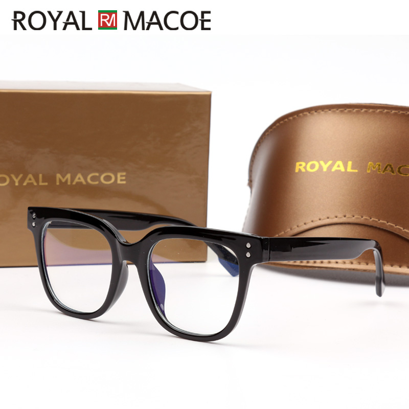 ROYAL MACOE Blue Light Blocking Glasses Computer Screen Eye Protection Eyewear Frames Anti Eye Fatigue Goggles Sunglasses