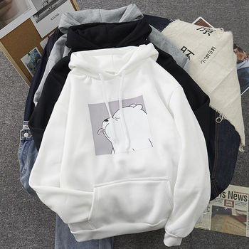 Hoodies oversized print Kangaroo Pocket Sweatshirts Hooded Harajuku winter Casual Vintage Korean Pullovers Women sweetshirts