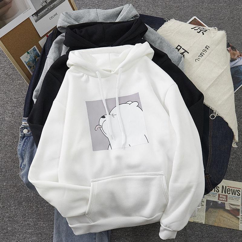Plus Size Tops Kangaroo Pocket Sweatshirts Hot Sale Harajuku Spring Casual Vintage Korean Pullovers Hoodies Ulzzang Women Loose