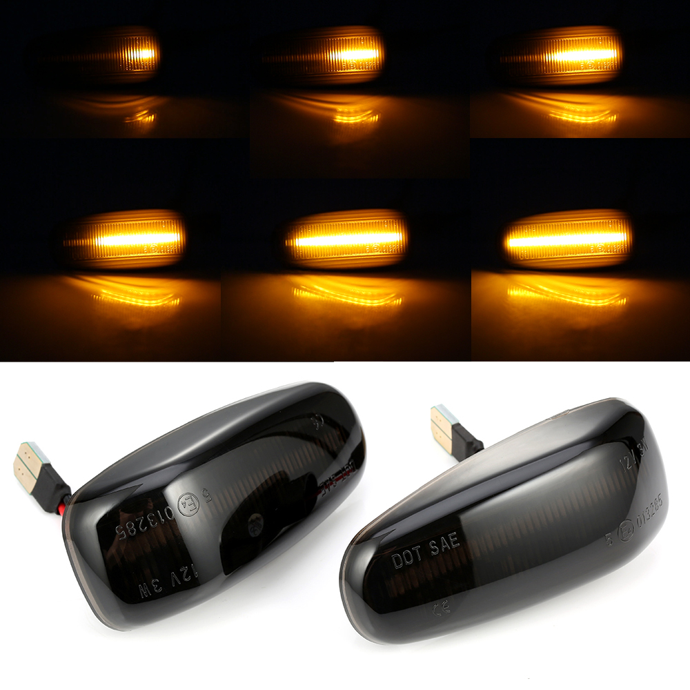 2 pcs Turn Signal Light Led Dynamic Side Marker Sequential Blinker Light For <font><b>Mercedes</b></font> <font><b>BENZ</b></font> W210 W202 W208 R170 <font><b>Vito</b></font> <font><b>W638</b></font> image