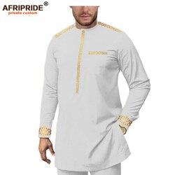 Мужской спортивный костюм в африканском стиле, комплект из рубашки и брюк с цветочным принтом, A1916075