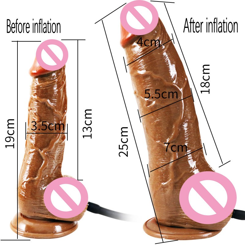 Huge Realistic Dildo Suction Cup Horse Dildo Enlargement Inflatable Real Huge <font><b>Penis</b></font> <font><b>Pumps</b></font> for Women G Spot <font><b>Adult</b></font> <font><b>Sex</b></font> <font><b>Toys</b></font> 2019 image