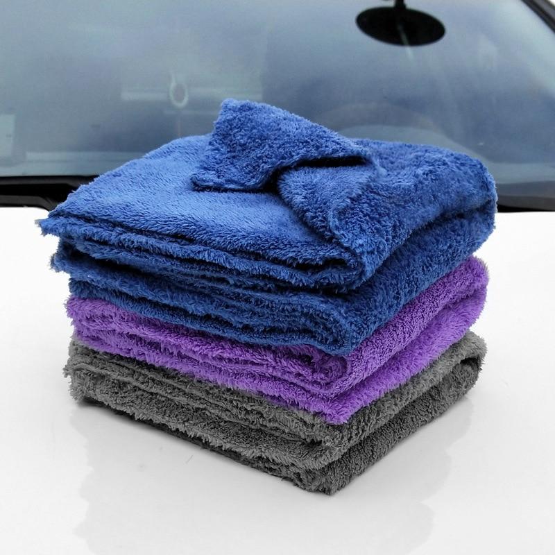 350GSM премиум-класса из микрофибры с отделкой, супер абсорбент Полотенца Ультра мягкий обтекаемой формы полотенце для мытья и сушки автомоби...