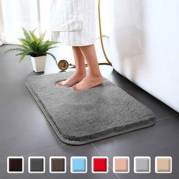 цена на Non-Slip Bathroom Rug Bath Carpet High Water Absorbent Bath Mat Microfiber Soft Plush Shaggy Mat Home Carpet Anti-skid Bath Mat