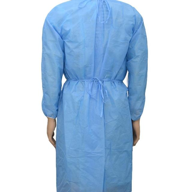 10pcs  PPE Suit Isolation Gowns  Adult Disposable Gowns Blue Protective Gowns Dust-proof Isolation Clothes Labour Suit Non-woven 4