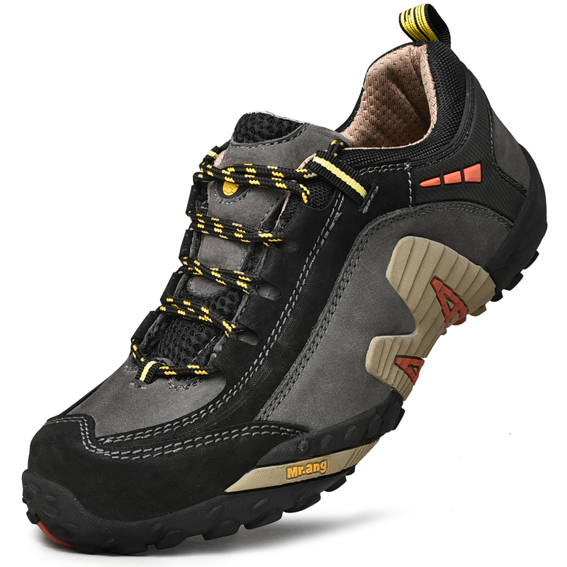 High Quality Cowhide Men Hiking Shoes Waterproof  Trekking Shoes Breathable Climbing Sneakers Sports Anti-Slip Hunting Shoes