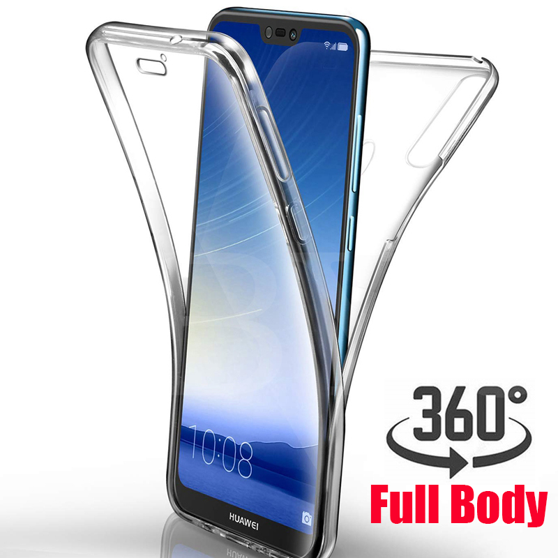 360 Degree Case for Huawei P20 P30 P10 Lite Pro Mate 10 20 Y6 Y7 Pro Prime 2019 HONOR 8 10 Lite 8A Full Body Clear Soft TPU