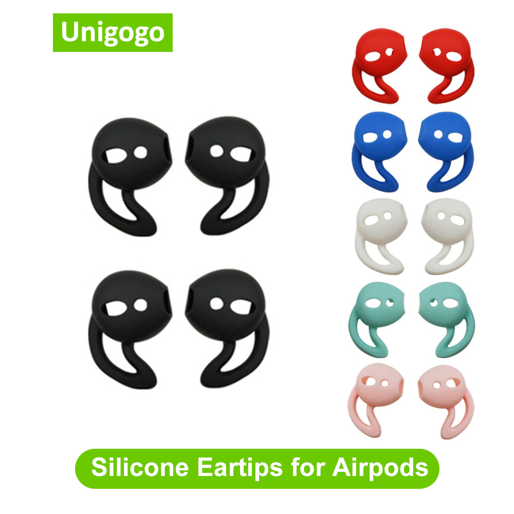 2 Pairs Eartips Silicone Case Cover <font><b>Ear</b></font> Pads Earbuds Earphone <font><b>Ear</b></font> Cups Earpads for Apple <font><b>Airpods</b></font> Air pods <font><b>Ear</b></font> <font><b>Tips</b></font> with <font><b>Ear</b></font> Hook image