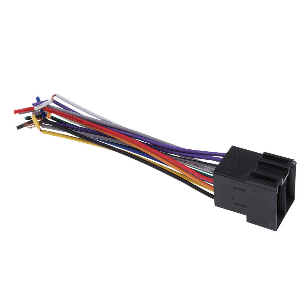 MagiDeal ISO Car Radio Adapter Female Socket Stereo Wire Harness Connector