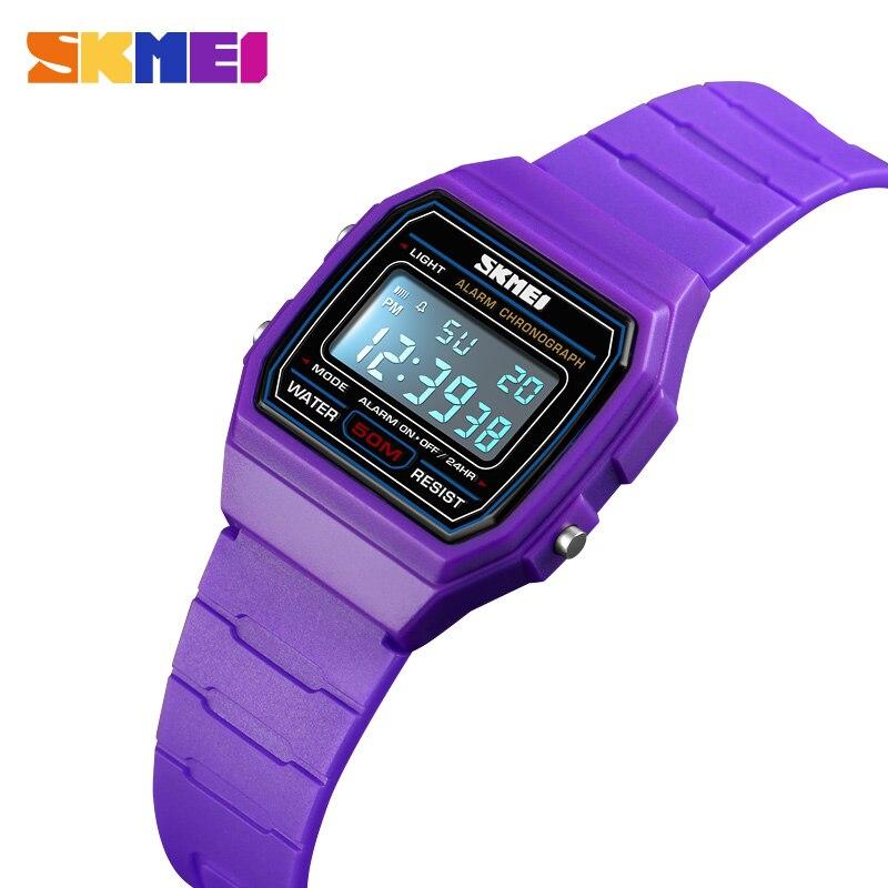 SKMEI Colorful Boys Girls Sports Watches Calendar Alarm 5Bar Waterproof Digital Wristwatches For Kids Children Reloj Clock 1460