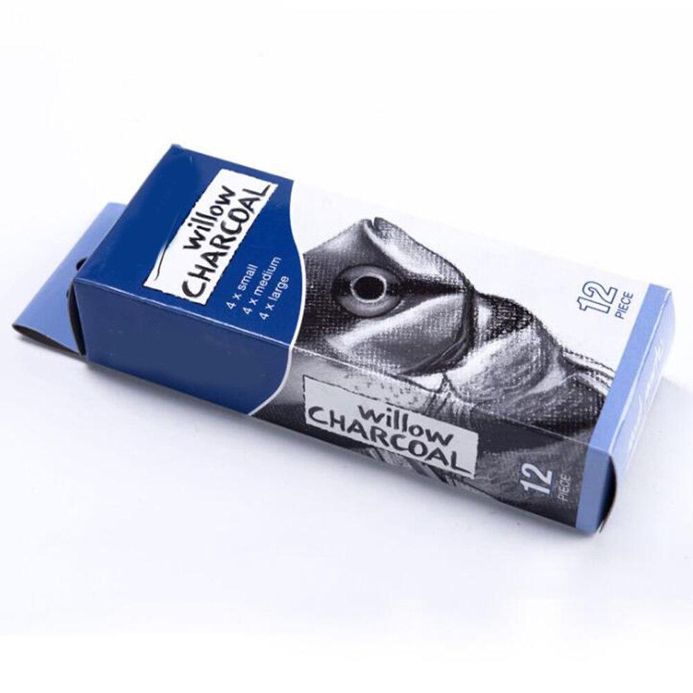 Упаковка из 12 штук палочки для древесного угля хлопок ива эскиз Угольные карандаши Рисование картины ивы палочки для древесного угля
