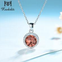 Kuololit – pendentif en pierre précieuse, en argent massif 925, collier rond avec chaîne, bijoux fins de mariage pour femmes