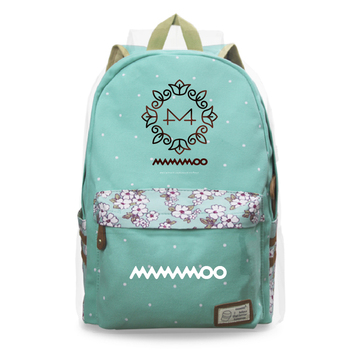 цена на New Fashion Backpack Mamamoo Canvas Women Backpack Female Shoulder Bag New School Bag Teenager Girls Laptop Bags Rucksack bags
