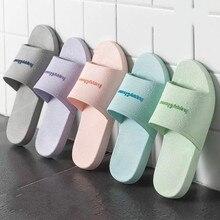 Mules Shoes Light-Slippers Non-Slip Bathroom Flat Fashion Casual Women's Spring HKXN