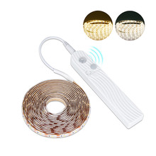 Smart 5V PIR Motion Sensor LED Strip Lights for Kitchen Flexible Waterproof LED Strip Stairs Wardrobe Bed Cabinet Closet Light