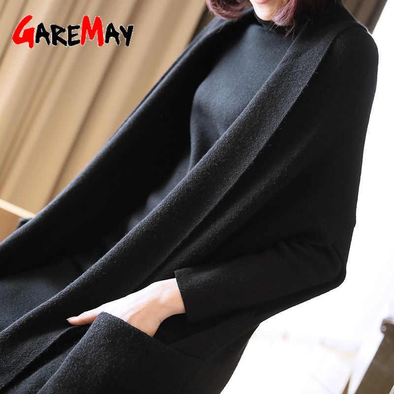 GareMay2020 가을 스웨터 롱 가디건 여성 스웨터 여성 조끼 슬리브 니트 스웨터 한국 패션 의류 스웨터 숙녀