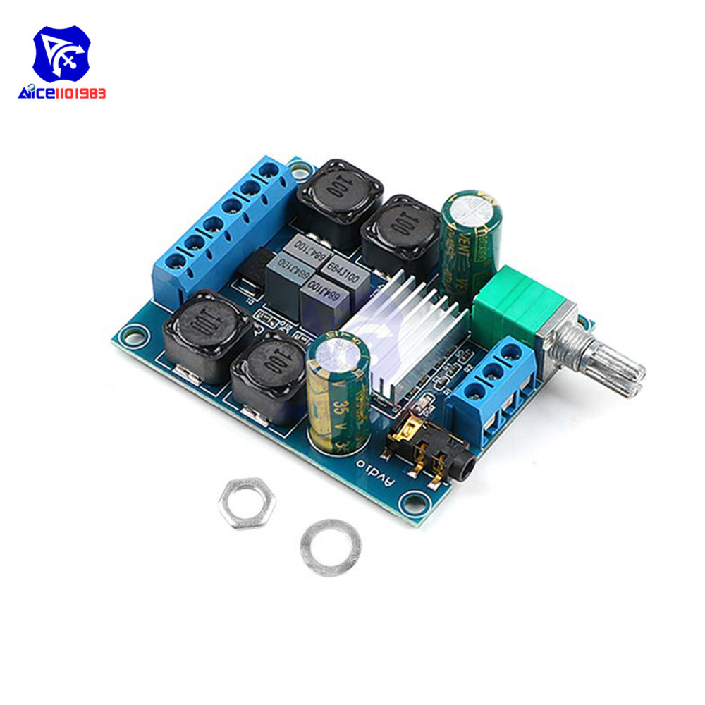 Diymore TPA3116 D2 50Wx2 Dual Channel DC 4.5-27V Digital Power Amplifier Board 2 CH Stereo High Efficiency Reverse Protection