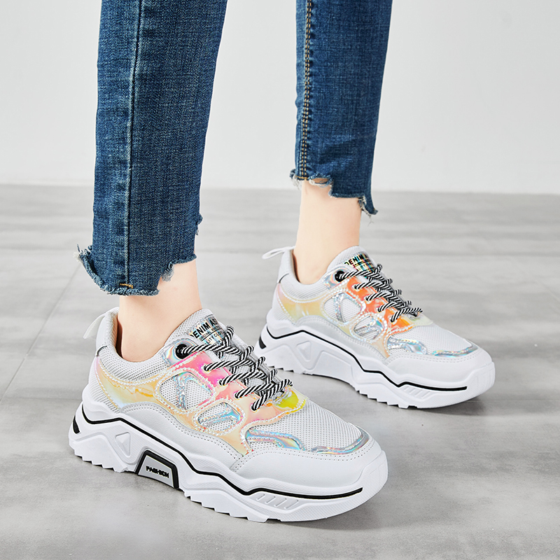 Liren 2019 Summer Fashion Casual Women Air Mesh Low Heels Vulcanize Shoes Sport Shoes Comfortable Breathable Women Shoes in Women 39 s Vulcanize Shoes from Shoes