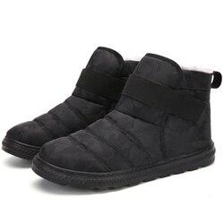 Homens sapatos de inverno botas de inverno para homens calçado antiderrapante impermeável quente pele tornozelo botas de neve sapatos de inverno chaussure homme