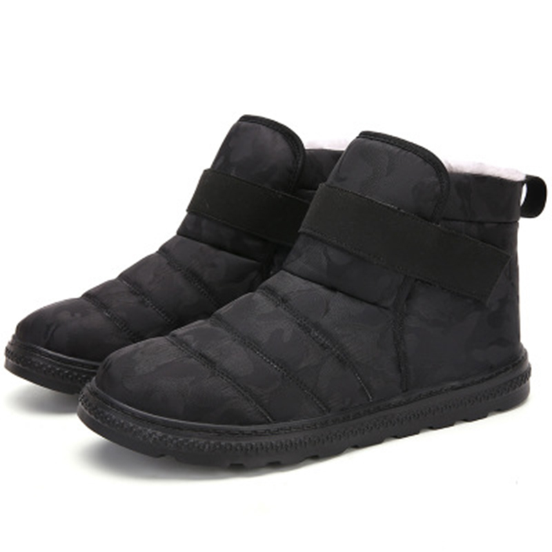 Men Shoes Winter Boots For Men Footwear Non-Slip Waterproof Warm Fur Ankle Snow Boots Men Winter Shoes Chaussure Homme