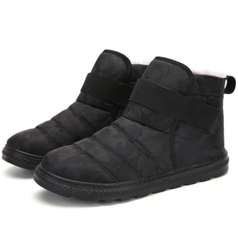 Men Shoes Winter Boots For Men Footwear Non-Slip Waterproof Warm Fur Ankle Snow Boots Men Winter Shoes Chaussure Homme