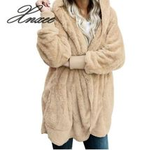 Autumn Winter New Women Plus Size Long Cardigan Hooded Long Sleeve Casual Sweaters Female Solid Oversize Loose Coat Xnxee S-5XL 2019 oversized cardigan sweater faux fur plus size hooded cardigan coat women winter 5xl sweaters xnxee