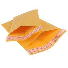 Sac à bulles en papier Kraft jaune, enveloppe d'expédition rembourrée avec bulle, sac de courrier enveloppé, cadeau, 10 pièces