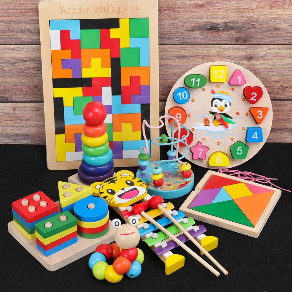 Montessori Educational Wooden Toys Katamino Kids Preschool Learning Sensory Toy Material Montessori Kids Early Educational Toys
