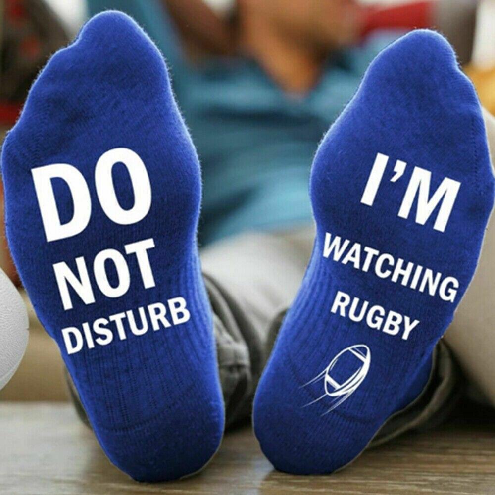 Новинка; забавные спортивные носки унисекс «Не беспокоить», «Я слежу за регби»; 1 пара; Новинка - Цвет: E