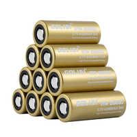 6PCS GOLISI S43 IMR26650 4300mah 35A Protetto Ricaricabile Piastra di Testa Ad alta scarico 26650 Batteria