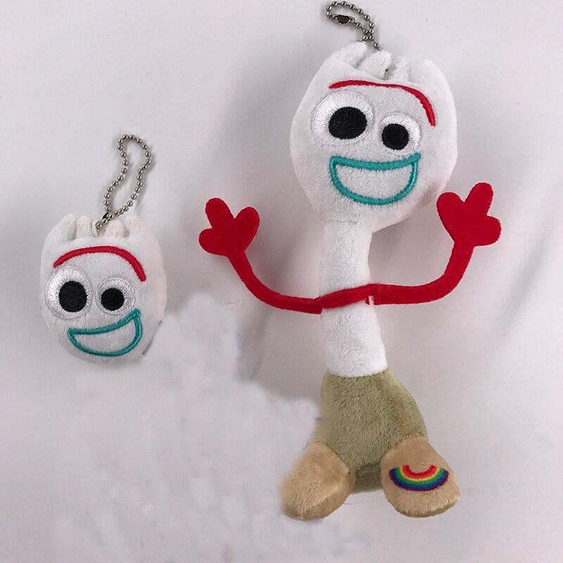 卸売新 20 個映画 TS4 Forky ソフトぬいぐるみ人形のおもちゃキーホルダーアニメフィギュア玩具漫画の子供のギフト 5  15 センチメートル  グループ上の おもちゃ & ホビー からの 映画 & テレビ の中 1