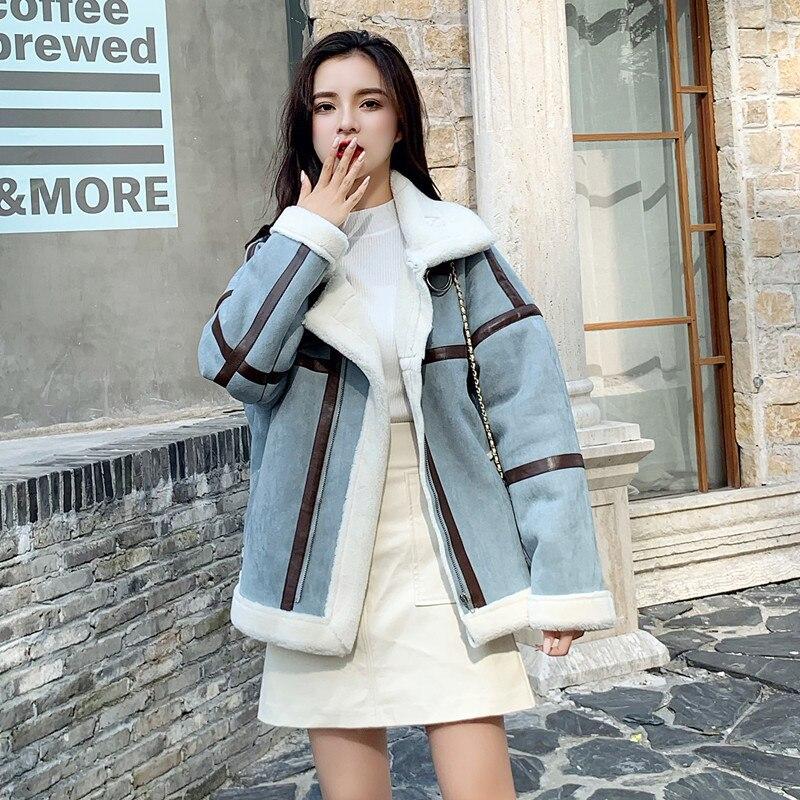 Version coréenne Deerskin velours veste pour femmes 2019 nouveau hiver épaissi agneau laine veste manteaux