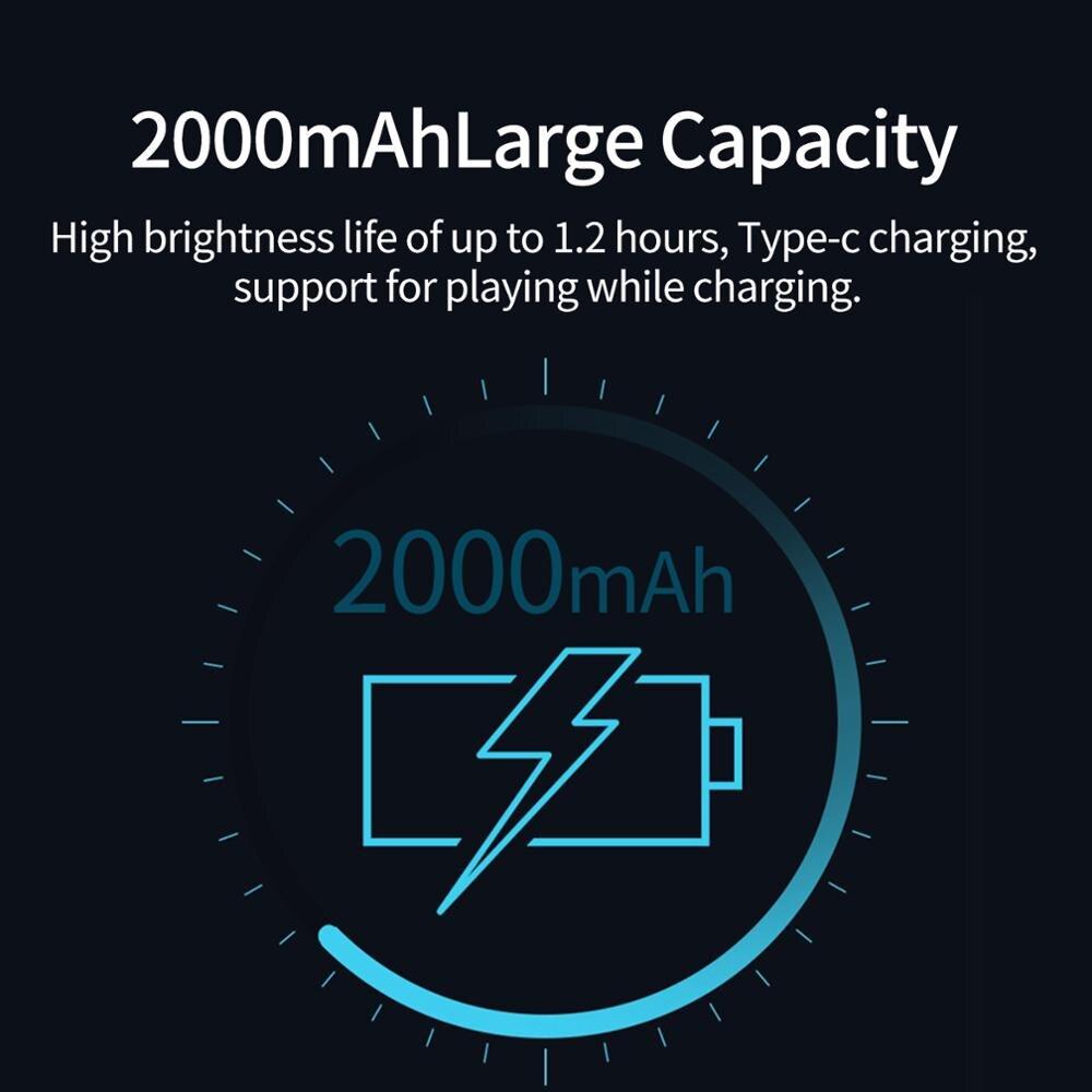 TELESIN Mini RGB LED Video Light 2000mAh Portable Pocket Photographic Lighting Vlog Fill Light Smartphone DSLR SLR Lamp 5
