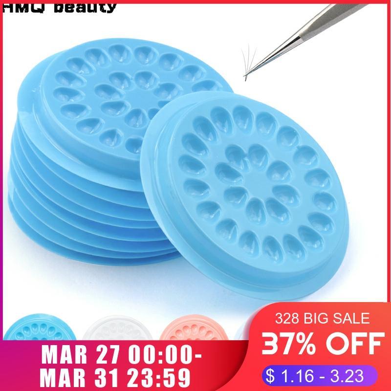 Wholesale Glue Gasket Eyelash Glue Holder Adhesive Pallet Eyelash Extension Glue Pads Stand On Eyelash Plastic Glue Holder