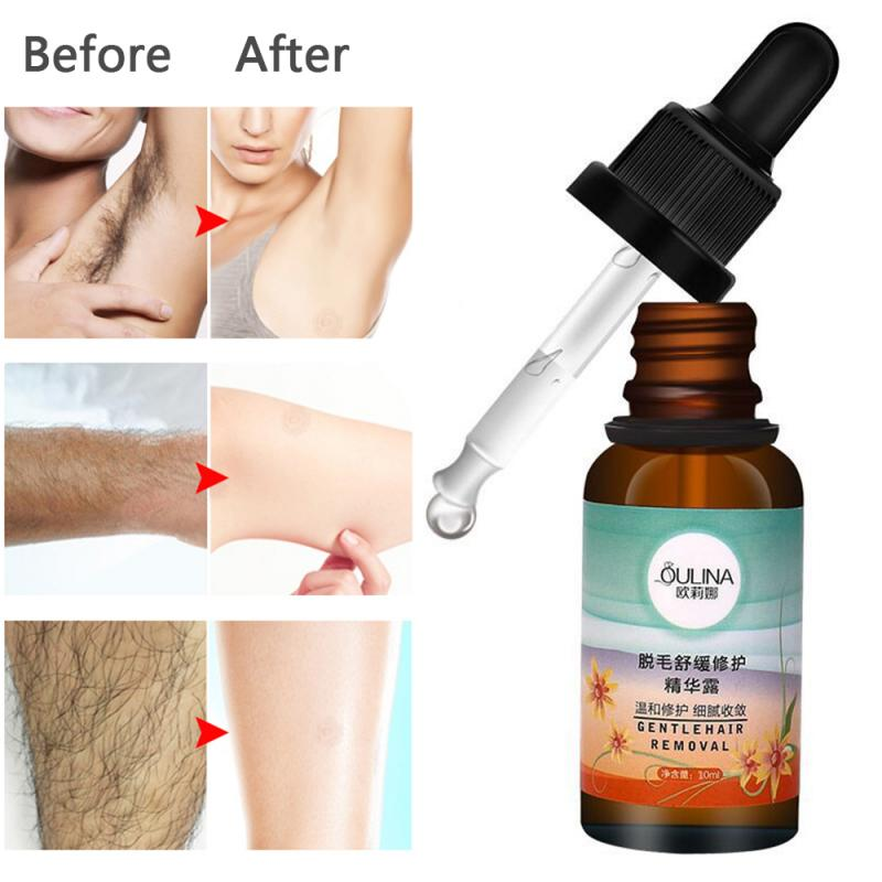 10ml Hair Removal Repair Essence Liquid Hyaluronic Acid Hair Removal Serum Hair Growth Inhibitor For Depilation Skin Care TSLM1