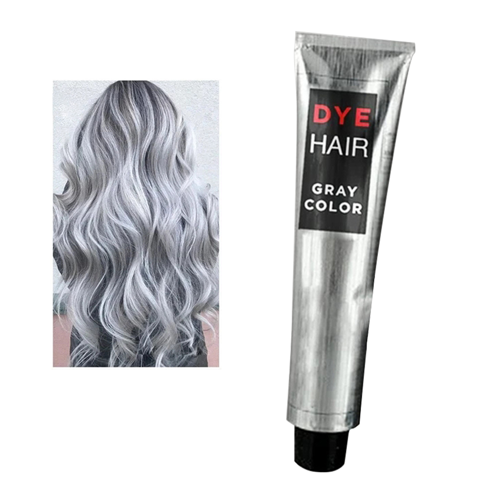 100ml Natural Hair Dye Cream For Beginners Universal Punk Style Party Permanent Smooth Professional Smoky Gray Home Salon L0702 1