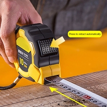 Tape-System Measuring-Tool Retractable Deli Professional Steel 10M Auto-Lock